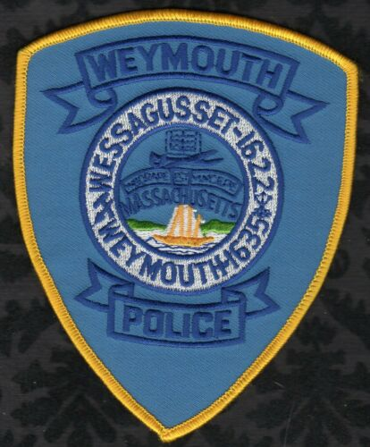 😎😎  Weymouth Massachusetts Police Shoulder Patch VR. #2