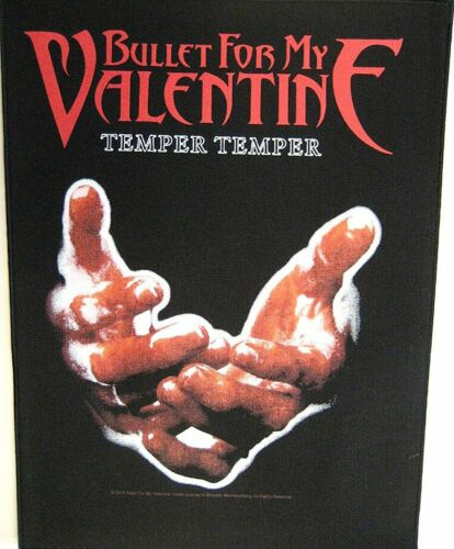 Large Bullet For My Valentine Temper Woven Sew On Battle Jacket Back Patch