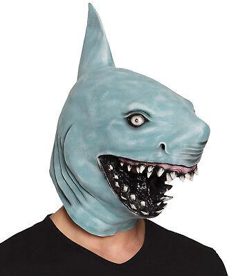 Ganzer Kopf Latex Gummi Hai Maske Groß Rachen Maskenkostüm Hochwertig Neu
