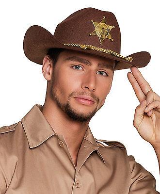 Deputy Sheriff Stetson Hut Kostüm braun USA Polizei Polizist Kostüm Hut NEU