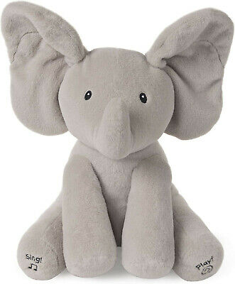 New--''Baby GUND ''Animated..Flappy the Elephant /.Stuffed Animal Plush-Gray_12
