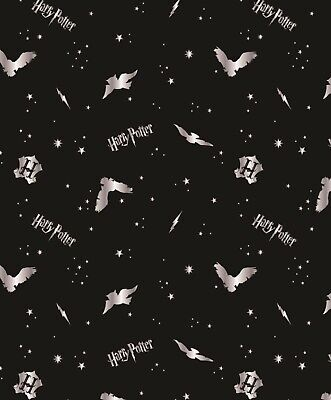Harry Potter Hogwarts OWLS 100% Cotton Fabric Material BY HALF METRE