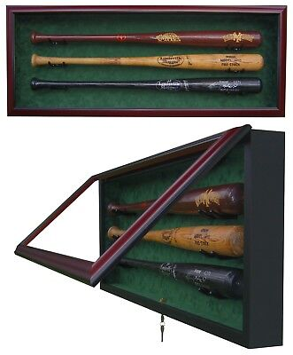 3 BASEBALL BAT DISPLAY CASE - SPORTS DISPLAY CASE 3 Baseball Bat Display Case