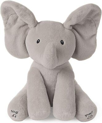 Baby Toys Gifts Animated Flappy the Elephant Stuffed Animal Plush, Light Gray