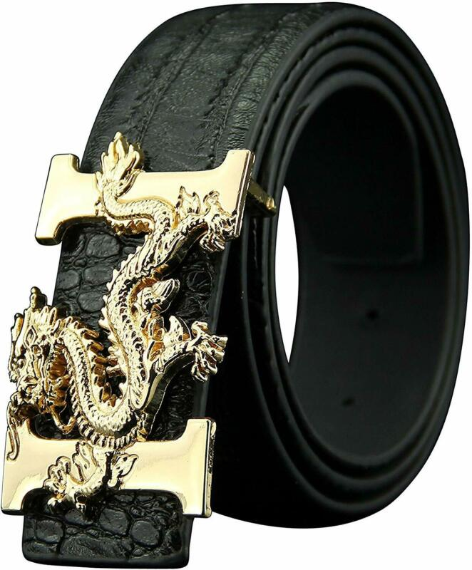 letter h dragon buckle alligator pattern leather