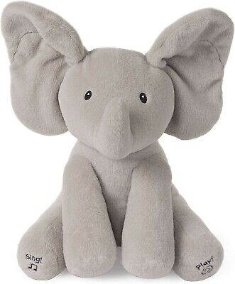 GUND Baby / GUND Baby Animated Flappy The Elephant Stuffed Animal Plush, Gray, 1