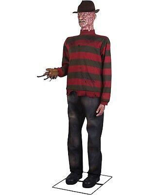 Pre-Order GEMMY Lifesize ANIMATED FREDDY KRUEGER Halloween Prop **FREE GIFT**](Life Size Freddy Krueger)