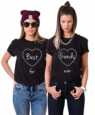 Best Friends BFF FREUNDINNEN Besties Damen T-Shirt Shirts im Set