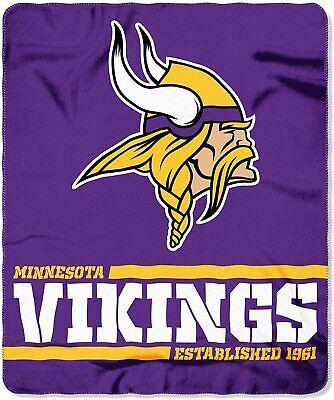 Offizielle NFL Minnesota Vikings Decke Fleecedecke in 127x152 cm 190604129662