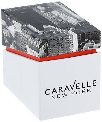Caravelle Men's 44B118 Quartz Gold-Tone Case Black Leather Strap 41mm Watch