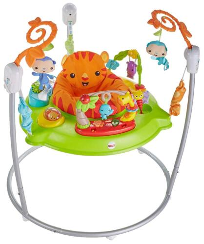 Fisher Price Infant Baby First Steps Tiger Jungle Musical Friends Jumperoo