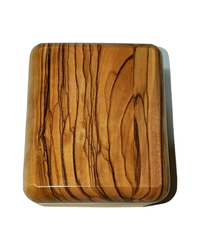 Beautiful Decorative Handcarved from Bethlehem Olive Wood Rosary Jewelry Box