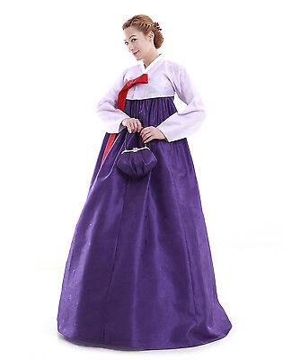 Hanbok Robe Coreenne sur mesure Soiree Romantique Rose Violet Nuit