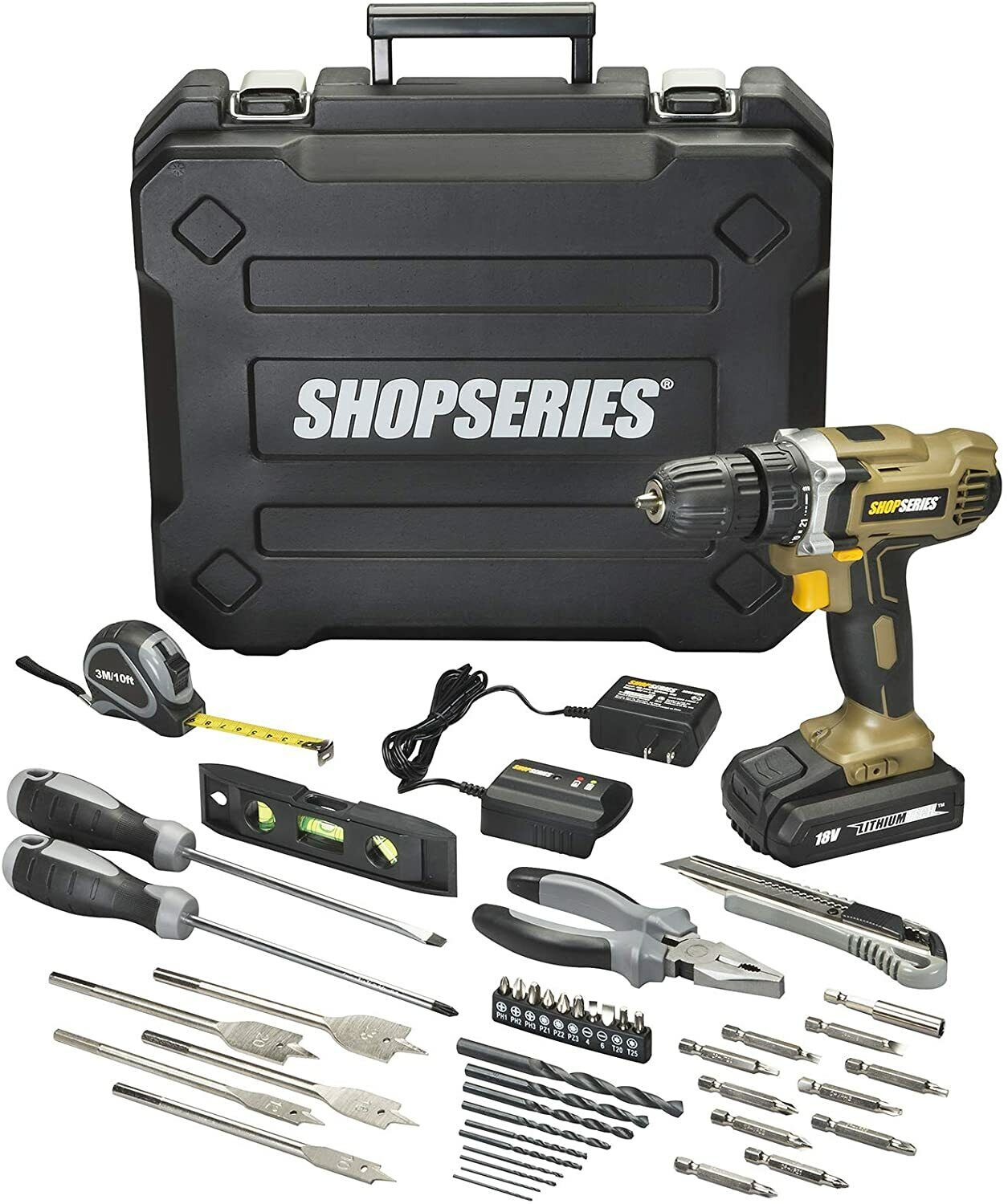 Rockwell SS2811K.1 ShopSeries 18 V Lithiumion 38 Drill Driver Value Kit
