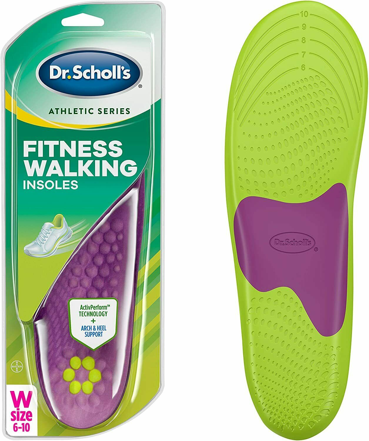 Dr. Scholl's W 6-10 Fitness Walking Arch & Heel Support Inso