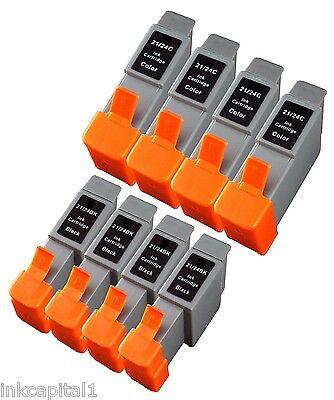 4 Black 4 Colour Inkjet Cartridges Compatible With Printer Canon Bci-24