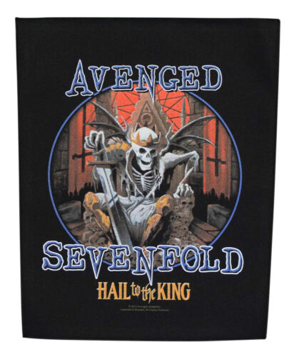 Large Avenged Sevenfold Hail To The King Woven Sew On Battle Jacket Back Patch