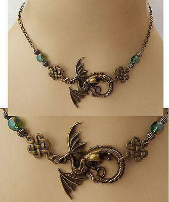 Gold Dragon Strand Necklace Jewelry Handmade NEW adjustable Accessories Chain