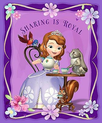 Disny Sofia The First Panel 100% cotton Fabric by the panel 35