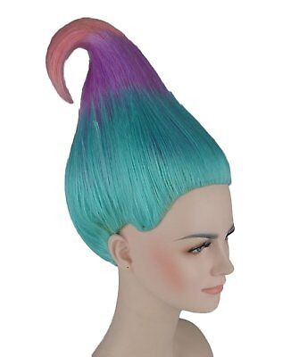 Trollz Sky Blue, Lavender And Pink Wig Cosplay Costume Movie TV Hair Trolls](Trollz Costume)