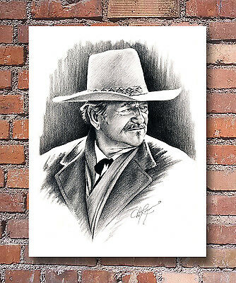 John Wayne Pencil Drawing