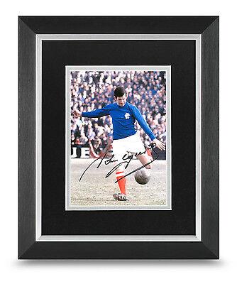 John Greig Signed 10x8 Photo Framed Display Rangers Memorabilia Autograph COA