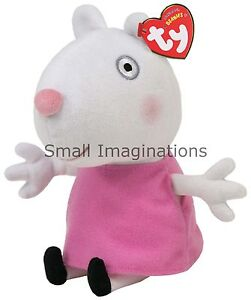 Suzy Sheep 6 inch TY Plush Beanie Soft Toy Teddy - Peppa Pig