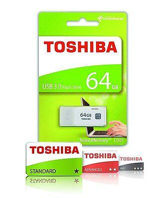 PENDRIVE USB 3.0 64GB CHIAVETTA PENNA 64 GB FLASH TOSHIBA CORRIERE