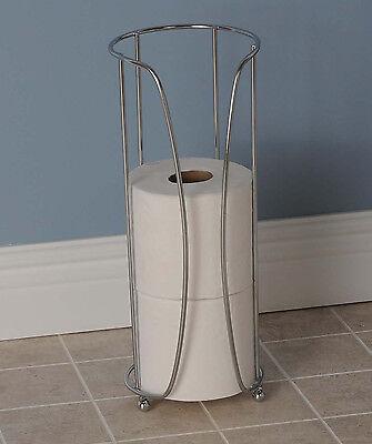 Toilet Paper Tissue Holder Extra Storage Bathroom Organizer Stand Rack Roll x 3
