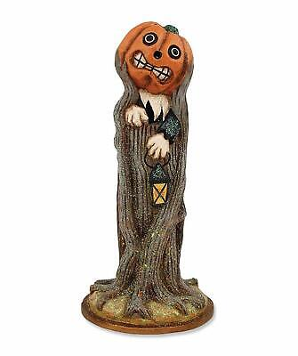 Bethany Lowe Pumpkin Coming Out of Tree Figurine Halloween Decor Pam Schifferl