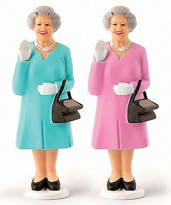 Kikkerland Assorted Solar Queen Solar Powered Waving Queen Elizabeth II Novelty