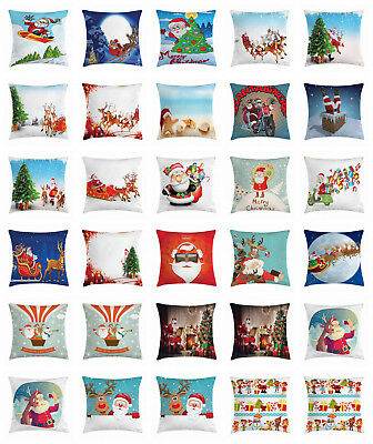 santa throw pillow cases cushion covers by