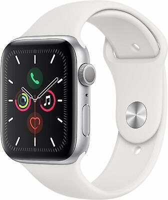 Apple Watch Gen 5 Series 5 44mm Silver Aluminum - White Sport Band MWVD2LL/A