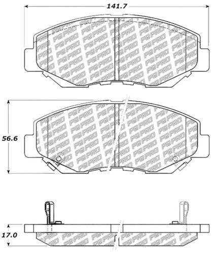 Disc Brake Pad Set fits 2002-2018 Honda Accord Element