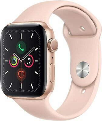 iWatch Series 5 (GPS, 44mm) - Gold Aluminum Case with Pink Sport Band