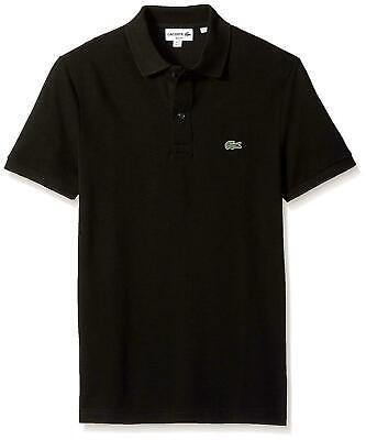 Lacoste Men's Short Sleeve Classic Pique Slim Fit Polo Shirt, Black  Size L/G