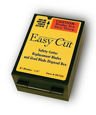 Easy Cut Safety Box Cutter Knife REPLACEMENT BLADES 81 EA/BX for Easycut #09703