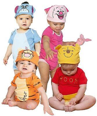 Baby Jungen Mädchen Disney Eeyore Winnie Ferkel Tigger Kostüm Kleid Outfit ()