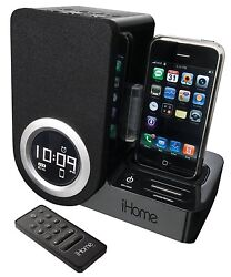 iHome IP41 Rotating Alarm Clock For the iPhone and iPod NO REMOTE