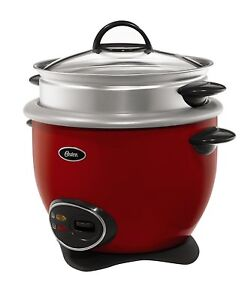Oster 14-Cup Rice Cooker with Steam Tray, Red  - CKSTRCMS14-R