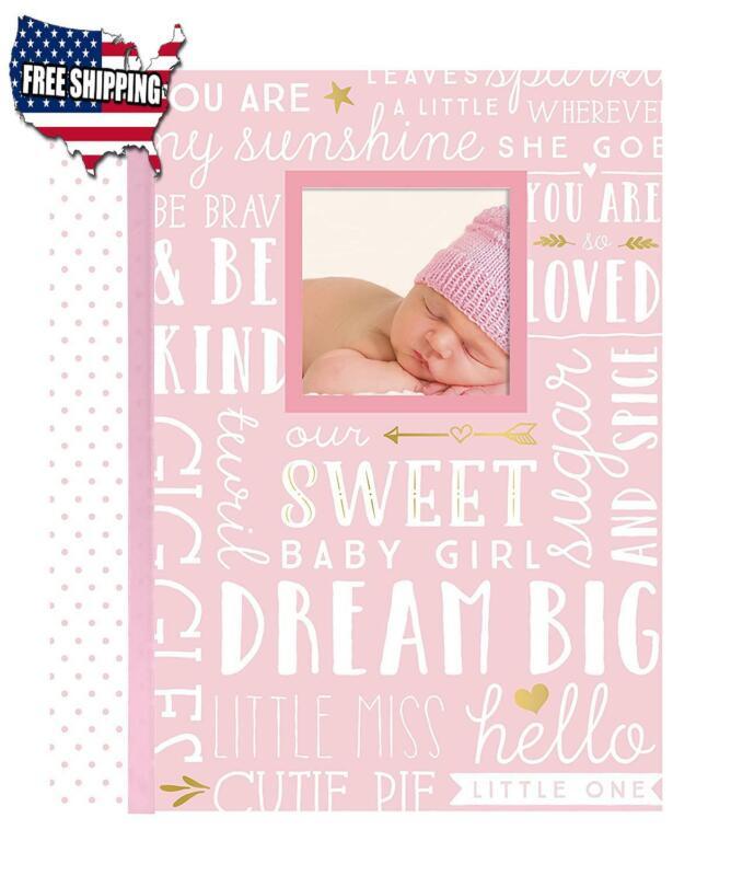 Baby Girl Shower Gift Memory Book Newborn First Five Years Photo Album Record