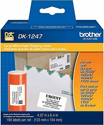 Brother Genuine Die-cut Large Shipping White Paper Labels For Brother Ql Printer
