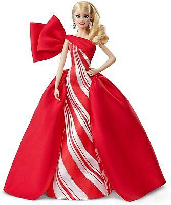 Barbie - Collector Felices Fiestas 2019, Muñeca Rubia con Ondas (Mattel FXF01