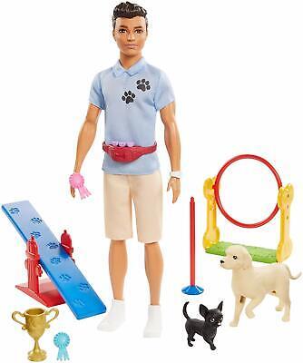 Barbie Doll Ken Dog Trainer Playset GJM34