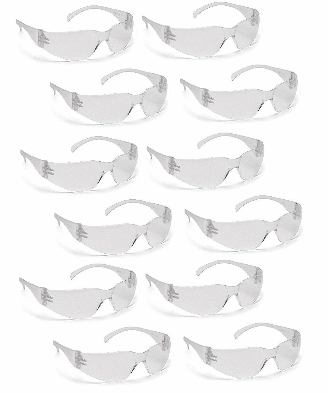 Pyramex Intruder S4110S CLEAR Safety Glasses Work Eyewear – 12 Pair/1Dozen Business & Industrial