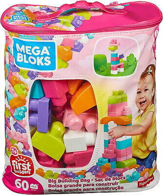 Mega Bloks First Builders DCH54 - Bausteinebeutel Medium 60 Teile