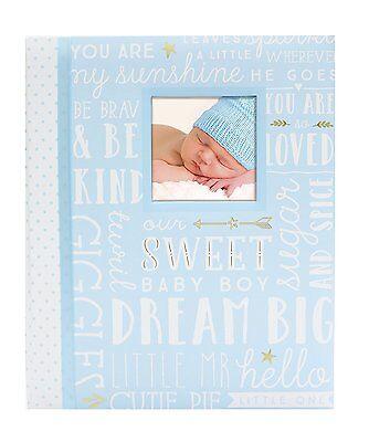 Peach Dream Big Wordplay Boy Girl Baby Memory Keepsake Book Blue Free Shipping