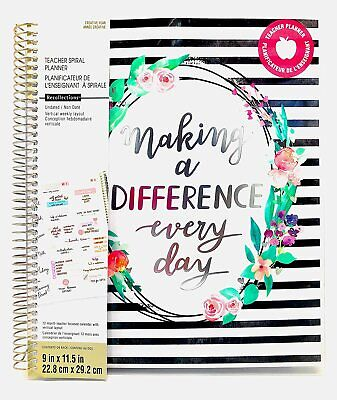 Making A Difference -teacher Undated Planner - Weekly Monthly Calendar Planner