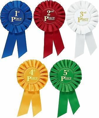 Rosette Premium Award Ribbons 1st 2nd 3rd 4th 5th Place Multipurpose Set ](1st Place Ribbon)
