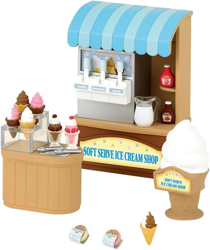 Sylvanian Families Calico Critters Soft Serve Ice Cream Shop